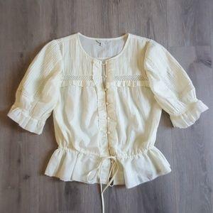 Boho button-up blouse